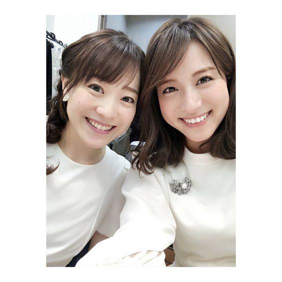 江藤愛アナと笹川友里アナ