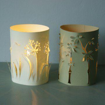 Des lumignons l 39 allure v g tale lanternes en papier motifs et tables - Fabriquer une lanterne en papier ...