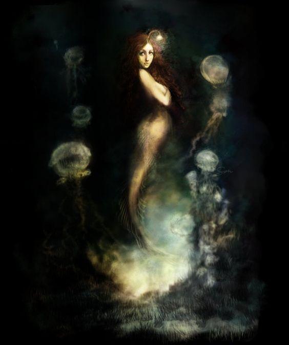 digital mermaid art | Creative Commons Attribution-Noncommercial-Share Alike 3.0 License .