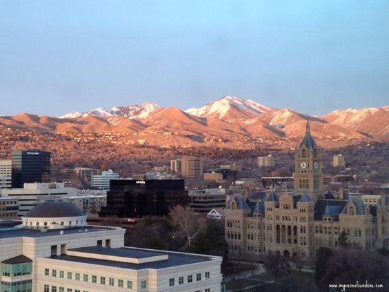Beautiful view in Salt Lake City