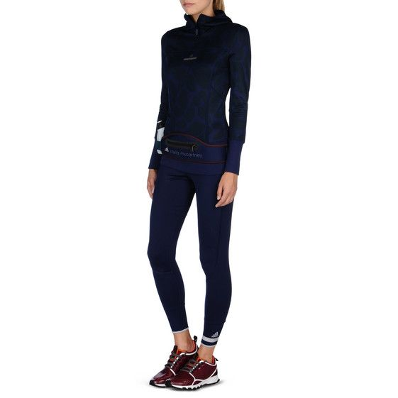 Stella McCartney - Felpa con cappuccio Essentials color navy - AI15 - f