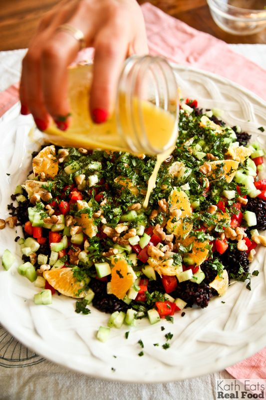 Colorful Forbidden Rice Salad