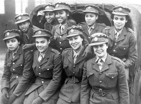 Jamaican / West Indian women recruits for the Auxiliary Territorial Service in 1943  (women's branch of the Army in the UK). Afro-Caribbeans are the descendants of West Africans shipped in the slave trade to the West Indies (to English, French, Dutch, Spanish, and Portuguese colonies founded from the 16th century). Since World War II many Afro-Caribbeans have migrated to North America and to Europe, especially to the USA, the UK, and the Netherlands.