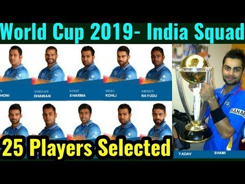 World Cup 2019 India Team Squad Top 25 Players Selected Team India For The World Cup 2019 25playersselectedfortheworldcup2019 H World Cup Squad Players