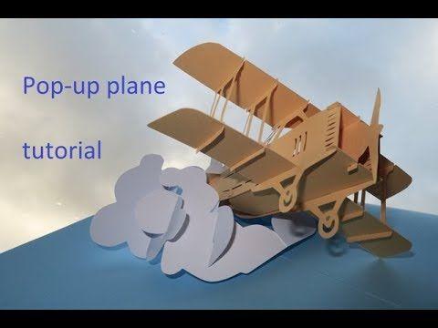 Pop Up Plane Sliceform Tutorial Dutchpapergirl Youtube Pop Up Book Diy Pop Up Cards Pop Up