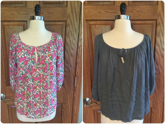 Abercrombie & Fitch 2 Pc Peasant Top Lot Sz S Relaxed Fit Gauze Blouse Shirt #AbercrombieFitch #Blouse #Casual