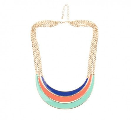 Multi Colour Riviera Three Layer Enamel Necklace | Necklaces Online | Lovisa