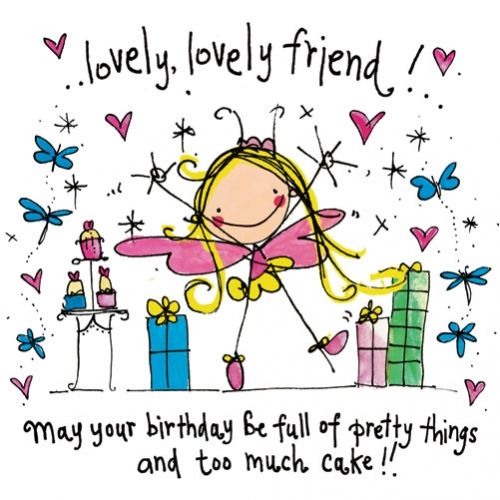 Lovely, lovely friend! May your birthday be full of pretty things and too much cake!