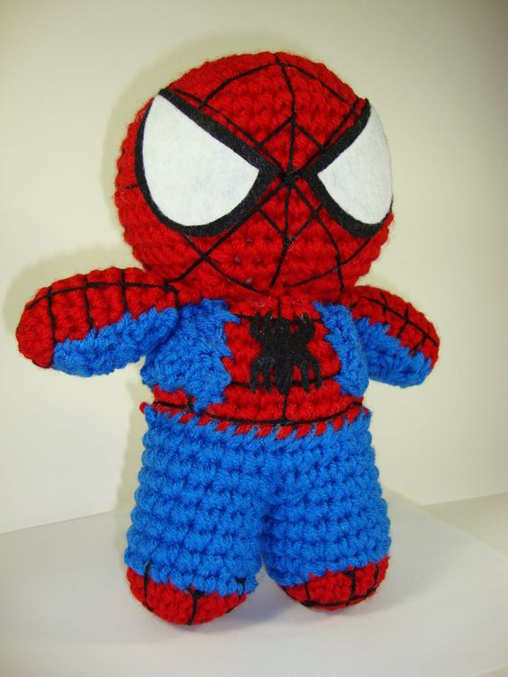 Free Amigurumi Superhero Patterns : Spider, Google and deviantART on Pinterest