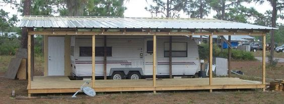 Shelter Porch Over Camper Rv Camping Pinterest Sheds