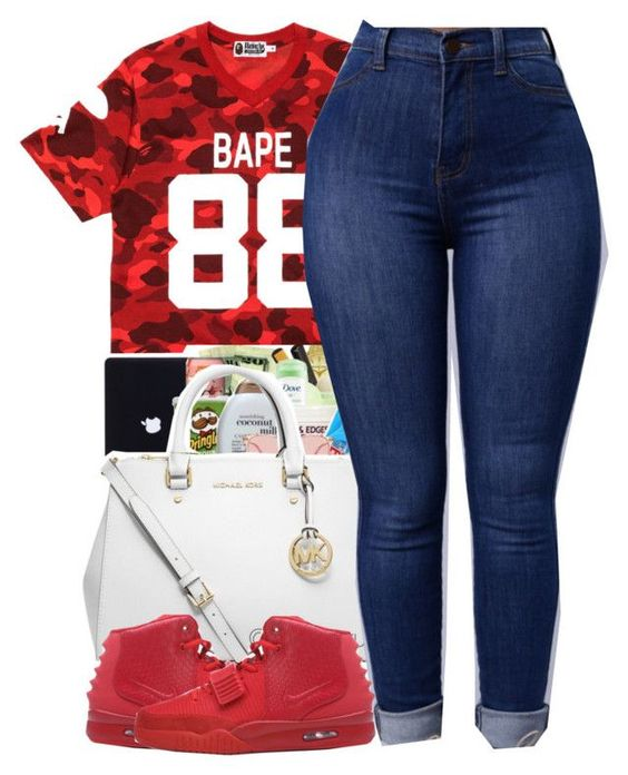 """Untitled #453"" by christianna-futrell ❤ liked on Polyvore featuring A BATHING APE and NIKE"