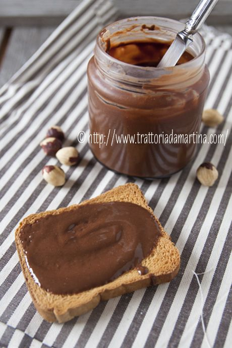 "Simil Nutella fatta in casa - Homemade ""Nutella"" - #trattoriadamartina #nutella #chocolate"