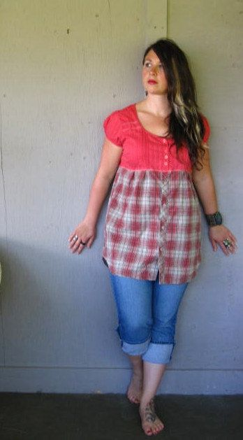 Eco upcycled clothing Casual Funky dress by lillienoradrygoods, $58.50