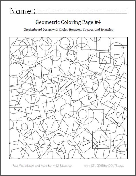 Geometry Coloring Pages Pdf : Coloring pages and hexagons on pinterest
