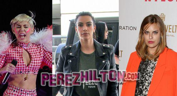 hottest stories right now miley cyrus kim kardashian