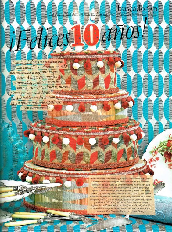 AD Spain celebrates their 10th anniversary with a Ragtime cake!