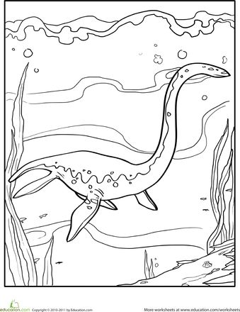Color the Dinosaur Elasmosaurus