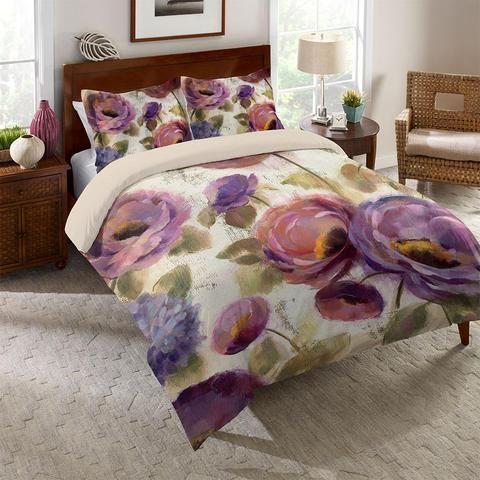 Precious Purples And Blues Duvet Cover Blue Comforter Blue