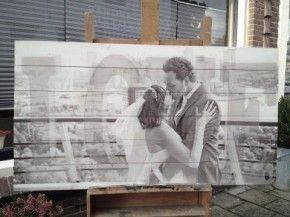 Mooie foto geprint op hout