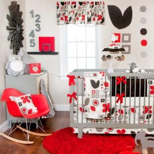 Piper Bedding by Sweet Potato - Baby Crib Bedding -  Love the red!!!!