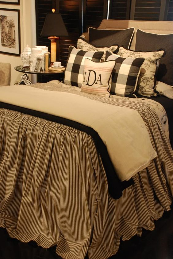 Black And Cream Toile Bedding Bedding Is Washed In