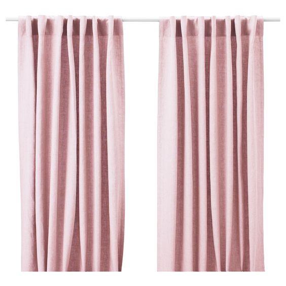 kallax dr na regal mit 4 eins tzen wei vorh nge bettw sche und pink. Black Bedroom Furniture Sets. Home Design Ideas