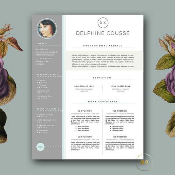 Resume Template & Cover Letter Template For Ms Word And Pages