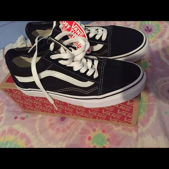 Brand New Vans low sk8 sneakers. No trades please, will lower price if purchased through ️️. Size 6 in men's and size 7.5 in women's. Vans Shoes Sneakers