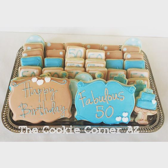 Fab 50. #minicookies #birthdaycookies