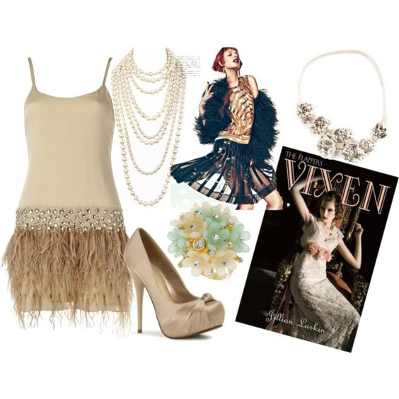 Flapper apparel., created by theedeandrab on Polyvore