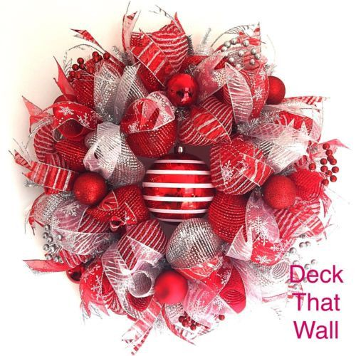 Red and white handmade red decks christmas stripes colors patterns