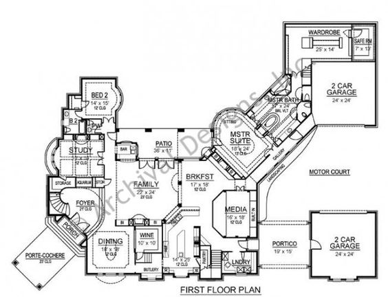 floorplan twostory Wimbledon Luxury Estate Mansion House Plan