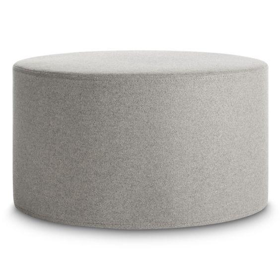 light grey large round ottoman