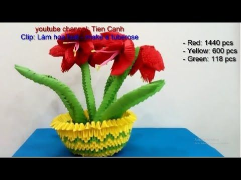 How To Make A Flower Vase Out Of Paper | Diy Origami Vase - YouTube | 360x480