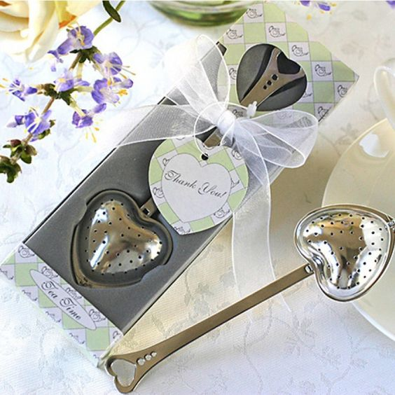 Tea Time Heart Tea Infuser Favor in Teatime Gift Box [528-13003NA Teatime Gift Set] : Wholesale Wedding Supplies, Discount Wedding Favors, Party Favors, and Bulk Event Supplies