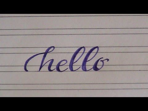 How To Write In Cursive Hello Easy Version For Beginners Youtube Cursive Writing How To Write Calligraphy Lettering Practice