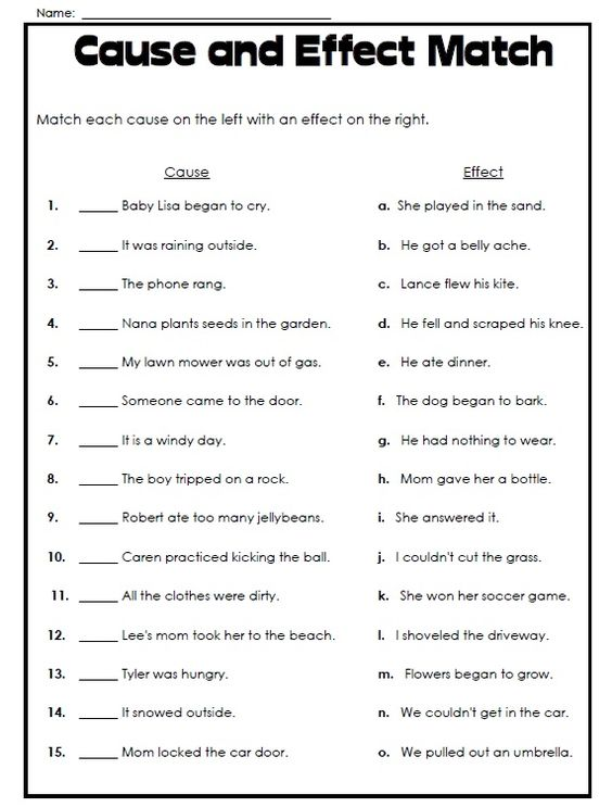 Super Teacher Worksheets has printable cause and effect worksheets – Teacher Worksheets for Kindergarten