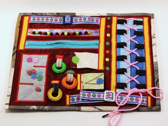 Dementia Care Busy Hand Blanket Occupational therapy Fidget Mat Activity Sensory Fiddle Insanity Alz