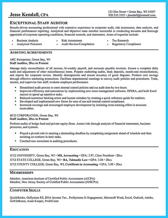nice Best Data Scientist Resume Sample to Get a Job, Check more at - staff auditor resume