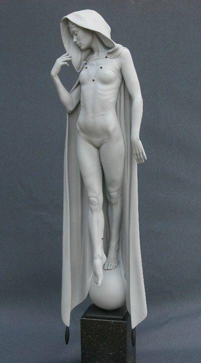 Talbot Michael 1953 #sculpture #statue #cloak See more on http://3dlogicus.com