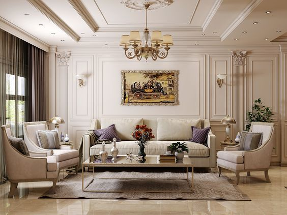 How To Make Your Living Room Look More Glamorous And Luxurious Classic Interior Design Living Room Luxury Living Room Design Living Room Design Decor