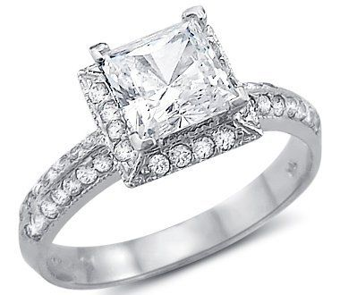 Solid 14k White Gold Princess Cut CZ Cubic Zirconia Channel Engagement Ring 1.5 ct: http://www.amazon.com/Solid-Princess-Zirconia-Channel-Engagement/dp/B0033UTHOE/?tag=mdaz-20