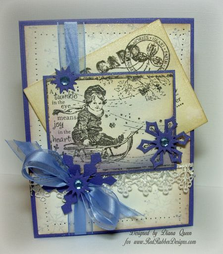 Christmas Card ~*~ Twinkle in the Eye rubber stamp ...