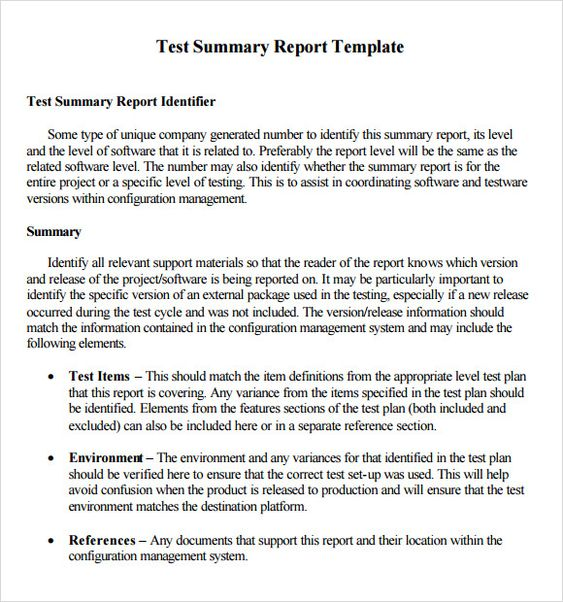 Image result for example of a report with a synopsis Build -A - project summary report sample