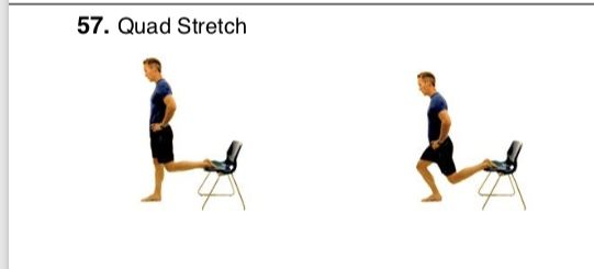Quad Stretch Quad Stretch Posterior Chain Exercises Quad