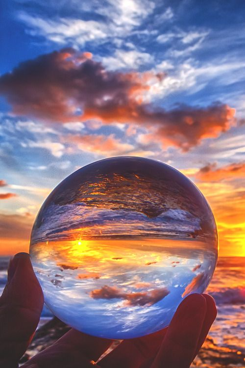 sunset through glass: