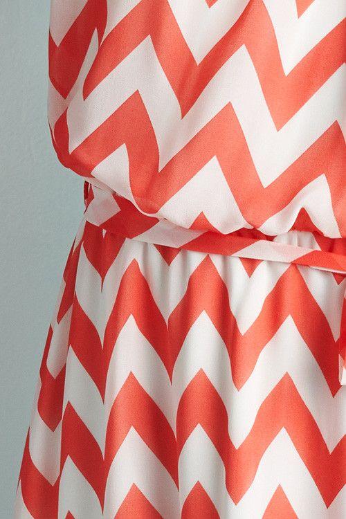 Sheer Chevron Halter Dress