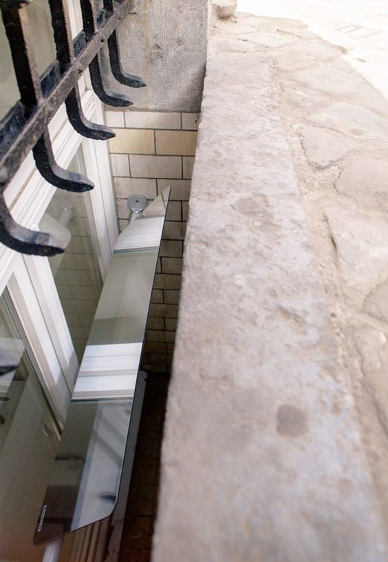 Fiw a light reflector to your basement window and get more light inside in - Deflecteur de lumiere naturelle ...