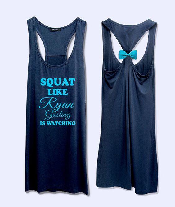 LOL Squat like  is watching  work out  fitness bow tank by VintTime, $24.00