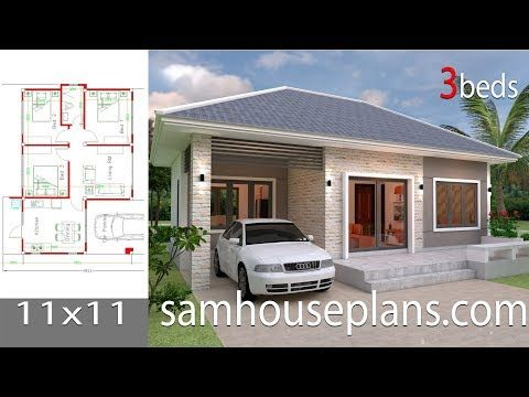 Simple House Design Plans 11x11 With 3 Bedrooms Full Plans Simple House Design Small House Design Plans Small House Design